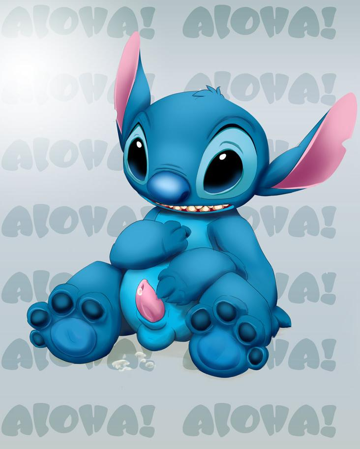 and lilo stitch from experiments Dungeon ni deai o motomeru